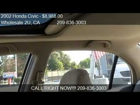 2002 honda civic ex sedan - Wholesale 2U 450 W Grant Line Rd in Tracy, CA 95376 Come test drive this 2002 Honda Civic Civic EX Sedan 4D for sale in Tracy, CA. http://www.tracycacars.com...