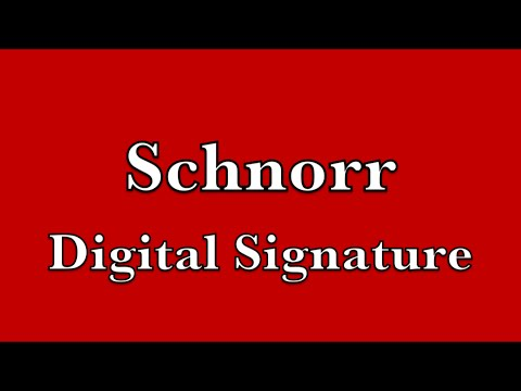 Schnorr Digital Signature