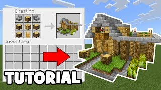 Minecraft Tutorial: How To Make A Wooden Survival House #3