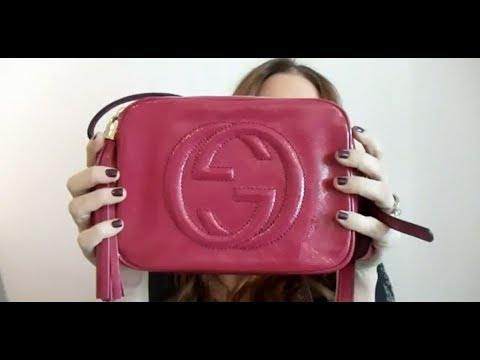 GUCCI PINK SOHO PATENT LEATHER DISCO BAG REVIEW| MELSOLDERA