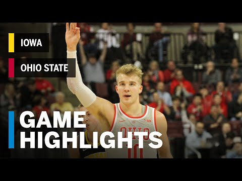 Highlights: Justin Ahrens Goes Off for Career-High 29 | Iowa vs. Ohio State | Feb. 26, 2019