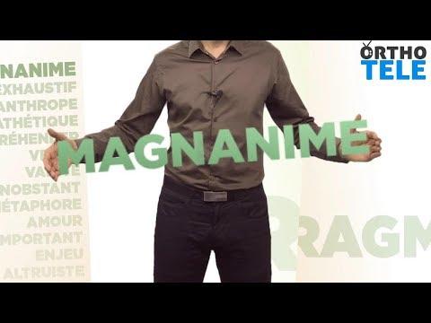Décortiquons le mot « Magnanime » - Orthodidacte.com (видео)