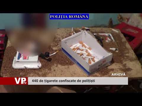 440 de țigarete confiscate de polițiști
