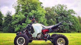 9. Raptor 700 Enduro Spec Quad Bike Green Lanes England 2016