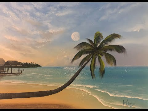 #317 How to paint a beach scene