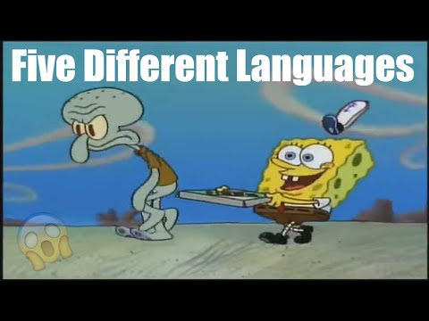 Krusty Krab Pizza Song - Five Different Languages!
