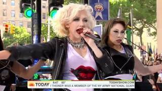 Christina Aguilera - Bionic & Not Myself Tonight Live (Today Show 2010) HD