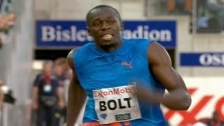 Usain Bolt Runs Down Asafa Powell In Oslo - From Universal Sports