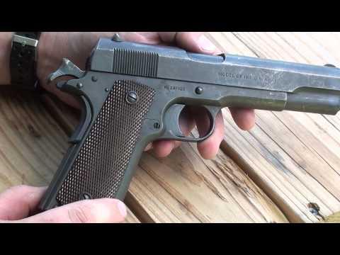 Video Colt Model of 1911 WW1 era service pistol .45 ACP download in MP3, 3GP, MP4, WEBM, AVI, FLV January 2017