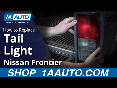 How To Install Change Taillights and Bulbs 1998-04 Nissan Frontier