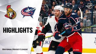 NHL Highlights   Senators @ Blue Jackets 2/24/20 by NHL
