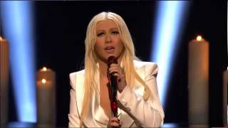 Christina Aguilera Blank Page LIVE speech Peoples
