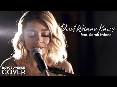 Don't Wanna Know Maroon 5 Cover [Feat. Sarah Hyland]