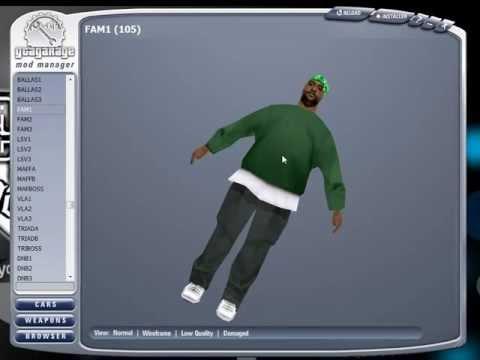 Instalar Personajes con GGMM (Principiante) - GTA San Andreas PC