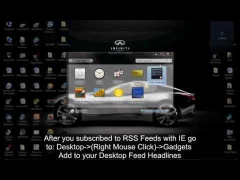 How to setup RSS Feeds in Internet Explorer and Windows Vista / Windows 7 Gadgets