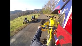 1. Can am ds 450 hillclimbs, trailriding and top speed run
