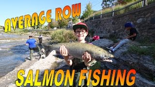 Port Hope (ON) Canada  city pictures gallery : Salmon fishing on the Ganaraska river in Port Hope Ontario Canada 2016 Salmon Run