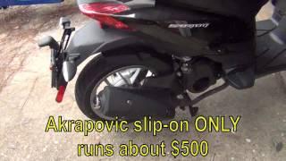 5. Aprilia Sport City One 125 Exhaust - Part 1