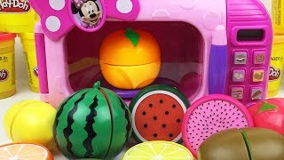 Video Minnie Mouse Food Cooking Microwave Toy Velcro Cutting Learn Colors Play Doh Ducks Fruits Strawberry MP3, 3GP, MP4, WEBM, AVI, FLV Juni 2018