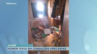 Polícia Militar de Avaré resgata homem que vivia em condições precárias