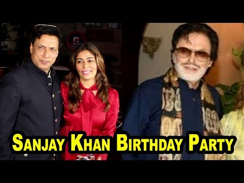 Director Madhur Bhandarkar With His Wife At Sanjay Khan Birthday Party