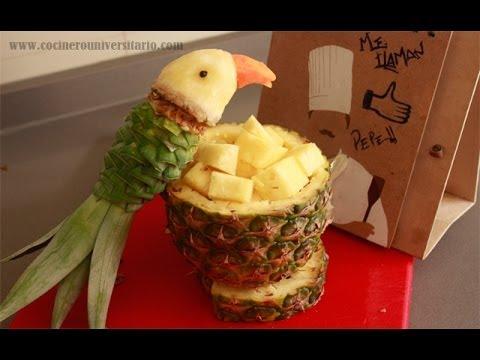 sensazionale creazione con la frutta