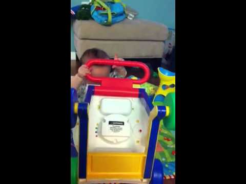 jack guimon EP - Jack loves to turn this over and play with the wheels, then turn it over again, and again! I think he likes to see all the parts of how something works.