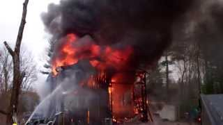 I took a video of my neighbors garage fire. Being an older wooden structure, it only took 30 minutes to burn completely to the ground.