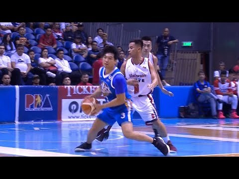 Juami Tiongson with the fake and the teardrop! | PBA Philippine Cup 2019
