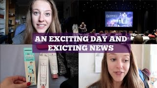 An Exciting Day and Exciting NewsLast Video: https://youtu.be/pYQYaWNcbXsWatch Crazyhead here: http://bit.ly/2eTjUxzHere's a little vlog from a couple of weeks back, and I've finally decided to give weekly vlogging a go! Watch out for the first one next week :) I'll still be doing main videos, but thought I'd challenge myself to two videos a week...Consider subscribing: http://bit.ly/2420JPqMusic: Emperor of San Fransisco - The Invasion (clips of song dip in and out of footage)From Free Music Archive (http://freemusicarchive.org/)CC by NC http://bit.ly/1xIMXnA Find me on Instagram - @georgie_mbFollow me on Twitter and let me know what you think of me weekly vlogging http://twitter.com/georgie_mb Filmed on the Canon G7x Mark iiLeave a comment below and have an amazing day :) FIND ME ELSEWHERE:Blog: http://georgie-awaywiththefairies.blogspot.co.uk/Facebook: https://www.facebook.com/pages/Away-With-The-Fairies/319156461563847Twitter: @georgie_mbTumblr: http://red-burning-red.tumblr.com/Pinterest: http://www.pinterest.com/georgiemb/Instagram: @georgie_mbSnapchat: georgie-mbEmail: georgiemb@waitrose.comDisclaimer: I have not been paid at all to make this video. All the products mentioned have either been bought with my own cash or have been kindly gifted to me by companies or friends. Any gifted items featured are marked with a *. All opinions are my own.