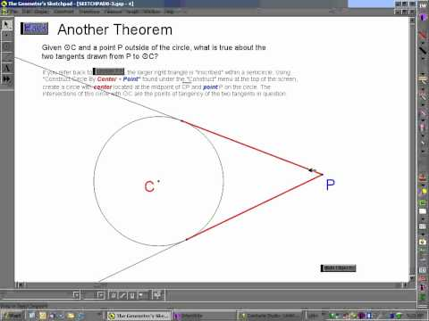 tangent - This video will demonstrate two theorems relevant to tangent lines and circles along with applications of these theorems. This series is available through a ...