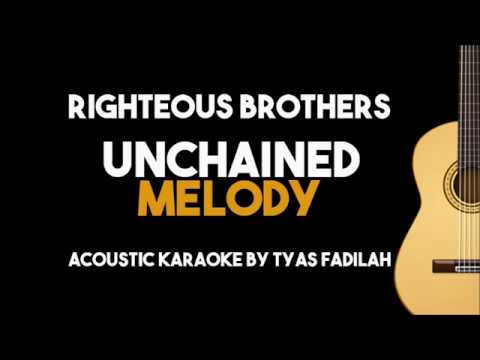 Unchained Melody – Righteous Brothers (Acoustic Guitar Karaoke with Lyrics)