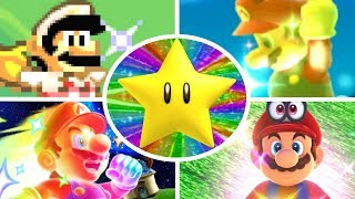 Evolution of Super Stars in Mario Games (1985-2017)