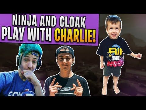 Ninja and Cloak play Fortnite with my son Charlie!