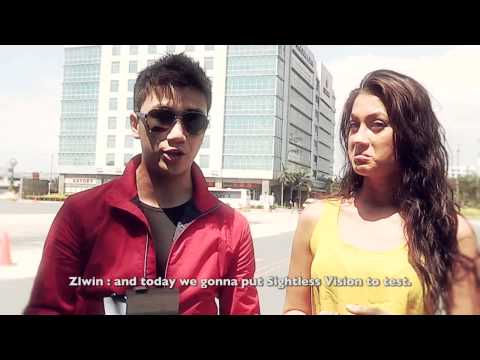 manila - Resorts World Manila's resident magician Zlwin Chew takes Miss RWM 2012 Alexandra Salmeron to a jaw-dropping ride around the RWM complex- in a blindfold! Cat...