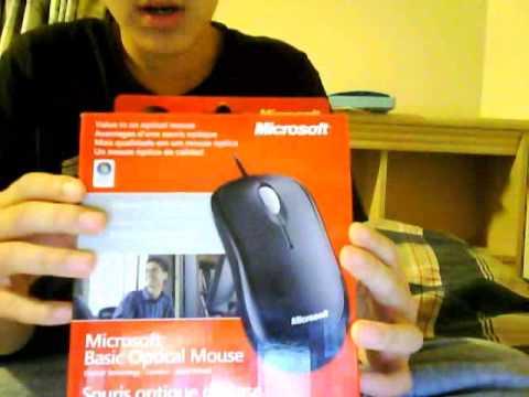 Microsoft basic optical mouse unboxing