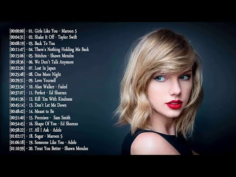 Video songs - Pop 2019 Hits  Maroon 5, Taylor Swift, Ed Sheeran, Adele, Shawn Mendes, Charlie Puth, Sam Smith