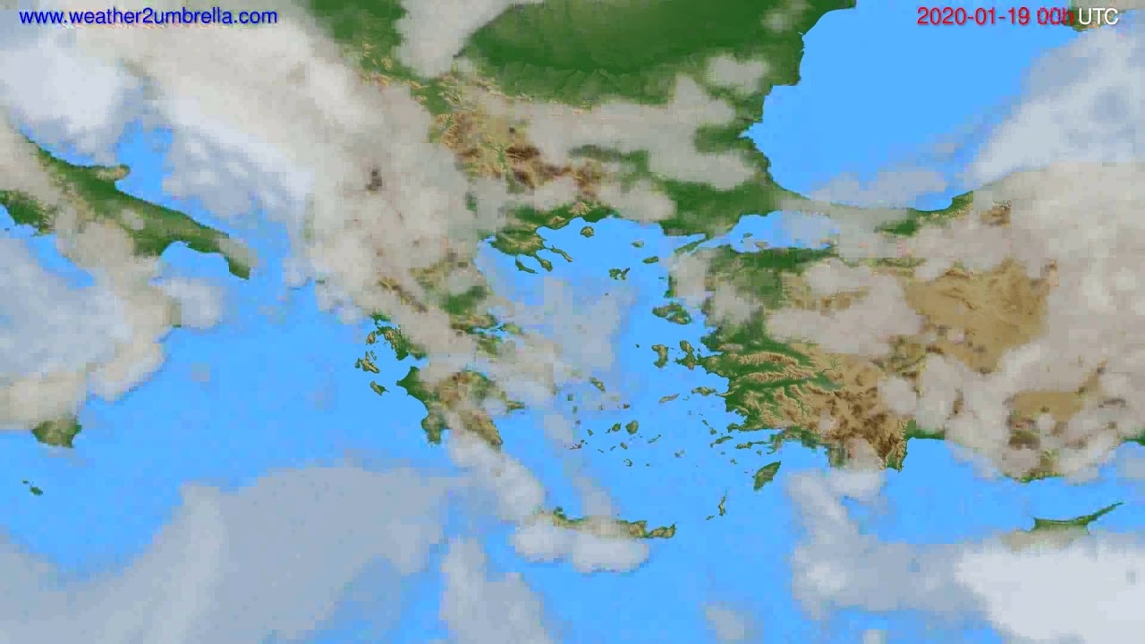 Cloud forecast Greece // modelrun: 00h UTC 2020-01-18