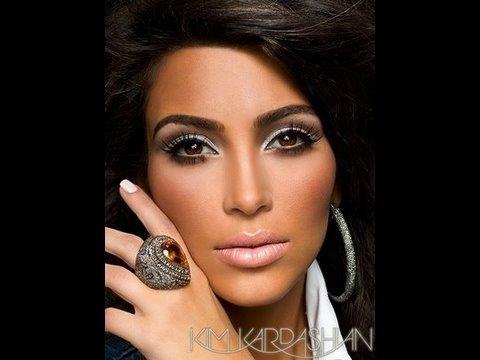 El Look Plata y Bronce de Kim Kardashian (Sin Usar MAC)