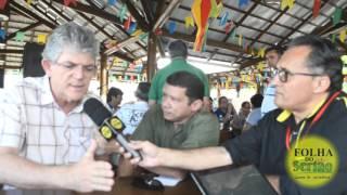 Ricardo Coutinho entrega obras do Marizão em Sousa, une oposição em Sousa