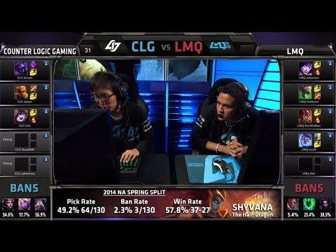 Counter Logic Gaming vs LMQ | S4 NA LCS Summer split 2014 SuperWeek 1 Day 1 | CLG vs LMQ G5