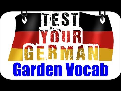 GERMAN LANGUAGE TEST (+ ANSWERS): Garden Vocabulary | VlogDave