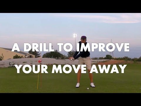 Golf Lesson – Move away Drill