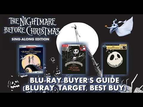 THE NIGHTMARE BEFORE CHRISTMAS - SING-ALONG EDITION - BLURAY UNBOXING (BLURAY, TARGET, BEST BUY)