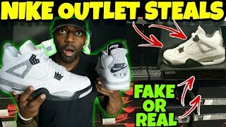 I Found Fake Jordans At The Nike Outlet!! Are They Fake or Real??