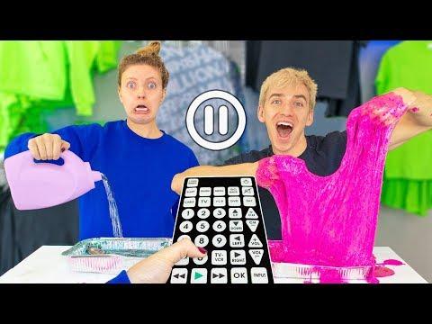 PAUSE Slime Challenge!! (Sis VS Bro - You Decide)