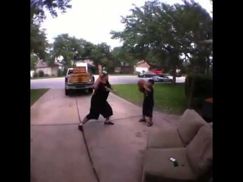 How to play basketball with kids– Vine By: Austin Miles