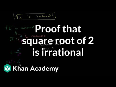 how to prove root 2 is irrational