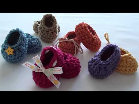 Craft Show Crochet Baby Booties - Newborn Size