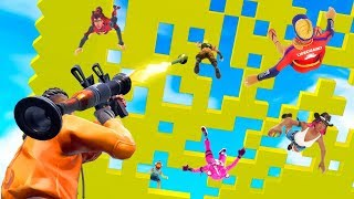 NEW CRAZY SPLEEF Custom Mini-Game! (Fortnite Creative)